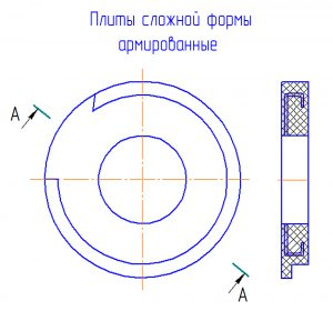Плиты армированные сложной формы