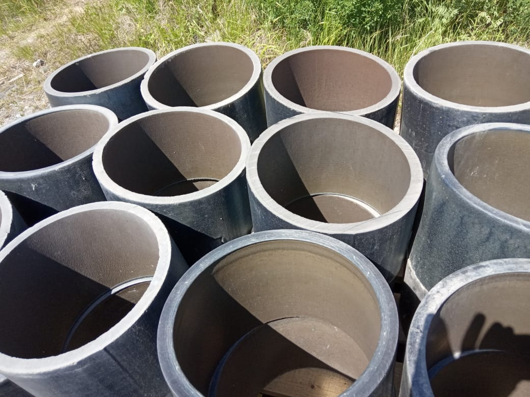 Трубы футерованные каменным литьем